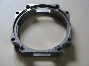 Finished titanium aerospace valve component