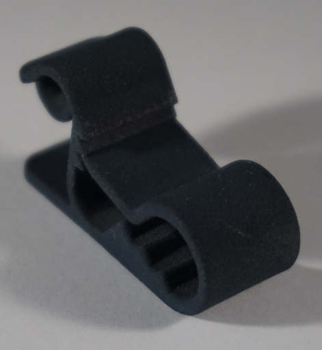 3D Printed plastic part after a dyeing process