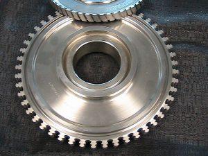 Inconel aerospace blade disc before