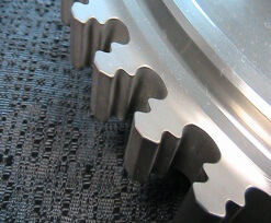 Inconel aerospace blade disc slots after