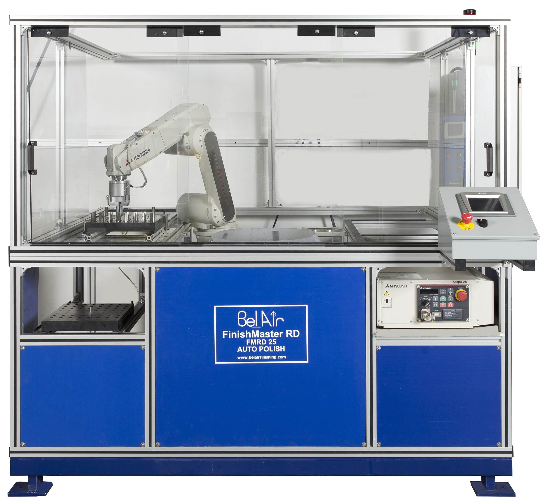 Automated Drag Finisher Used For Deburring, Honing, and Polishing of parts