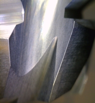 Example of cutting tool after honing