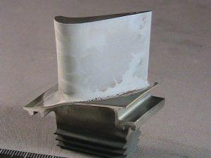 Coated aerospace turbine blade
