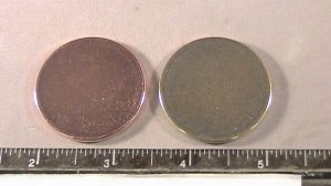 Copper & brass coin blanks after
