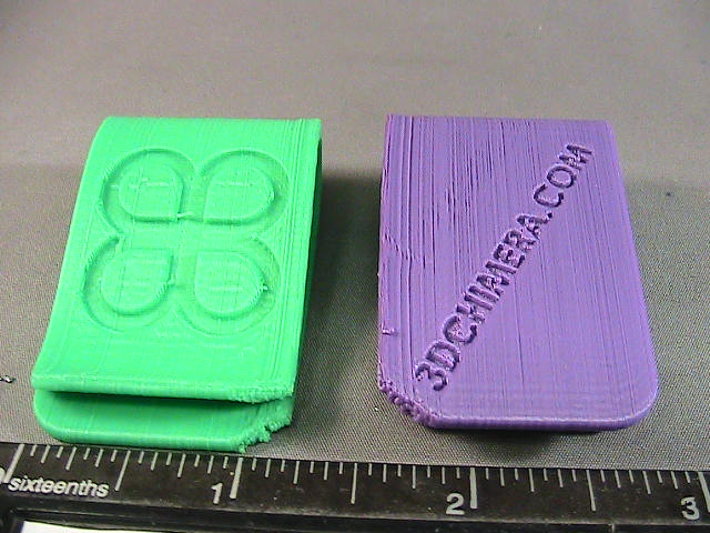 ABS and PLA 3d printed money clip before