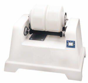 Two bar bench top mini rotary tumbler