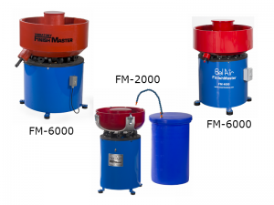 Vibratory tumbler bowls, batch and internal separation models