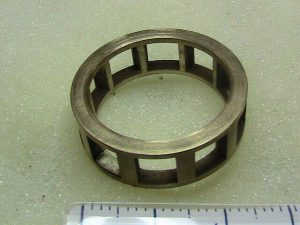 Bronze roller bearing cage