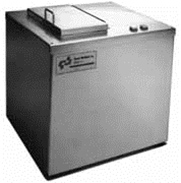 Table top ultrasonic parts cleaner, batch parts cleaning