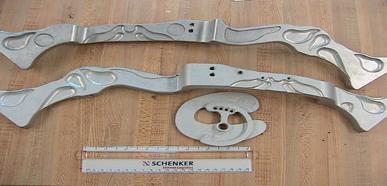 Aluminum composite bow finished