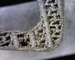 3d printed titanium implant, after