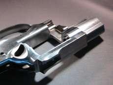 Aluminum pistol frame finished