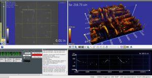 Metrology - 3D printed surface finishing test coupon, before