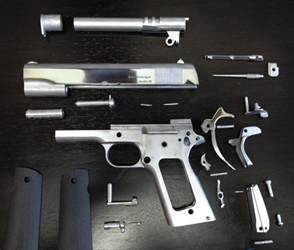 Pistol parts finished