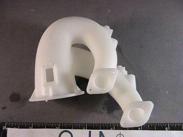 3D printed plastic plumbing component