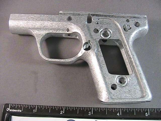 Aluminum handgun frame after