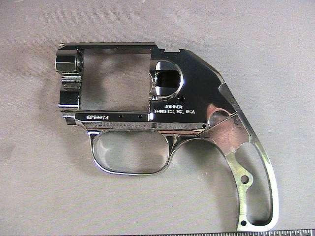 Steel revolver frame after