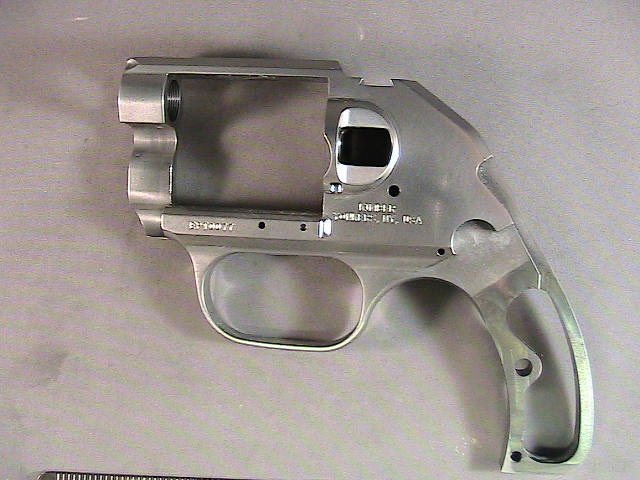 Steel revolver frame before