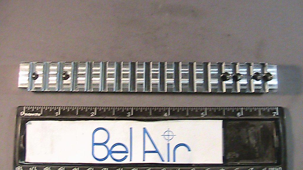 Aluminum firearms scope rack after