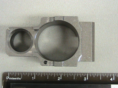 Industrial aluminum CNC machine part