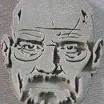 3D printed post-processed artwork, before