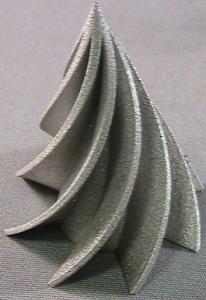 3D printed artwork, post-processed, before