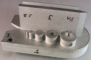 3D printed aerospace test coupon, post-process