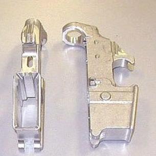 Aluminum shotgun receiver finished
