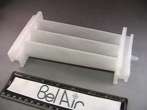 3D printed post-processed aerospace part