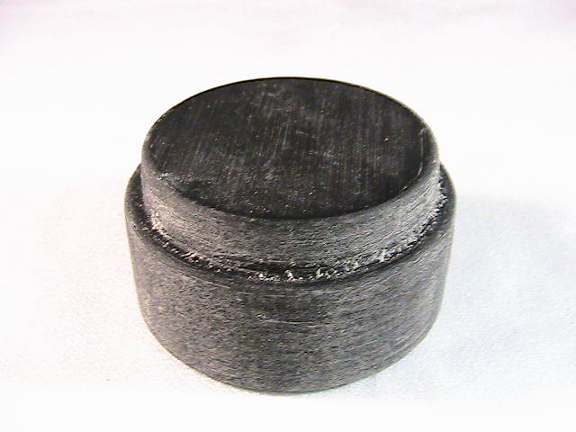 Vero black 3d plastic test puck before