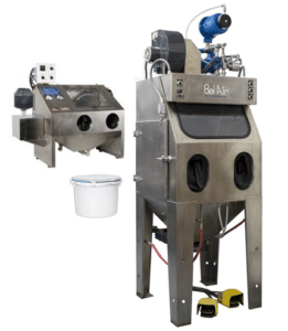 Water vapor blasting machine, used for cleaning and surface finishing