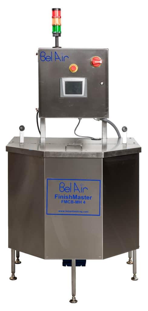 Centrifugal Barrel Finisher, 4 barrel for precision deburring and polishing