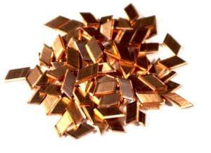 Copper Media used for Burnishing & high energy finishing