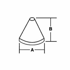 Cone shaped media
