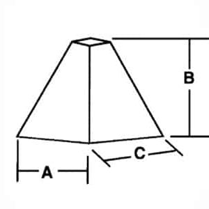 pyramid shaped media