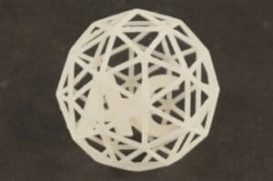 SLS printed polypropylene part after surface finishing