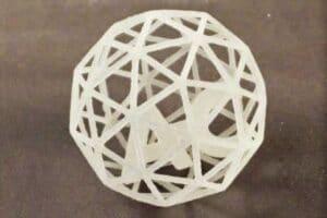 SLS printed polypropylene part before surface finishing