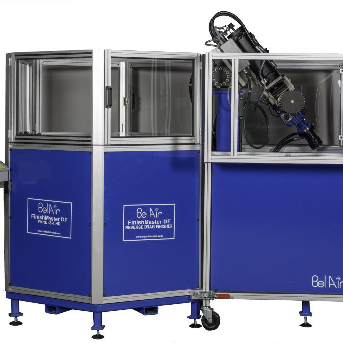 Reverse Drag Finisher for Beburring and Polishing Long Parts